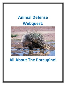 Animal Defense Webquest Three-Part Bundle With Answer Keys!