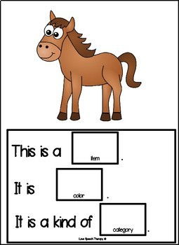 Animal Describing Book