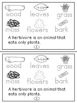 Animal Diets Science Mini Readers(K-3)
