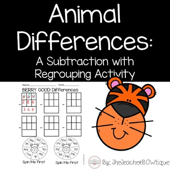 Animal Differences: A Subtraction with Regrouping Activity
