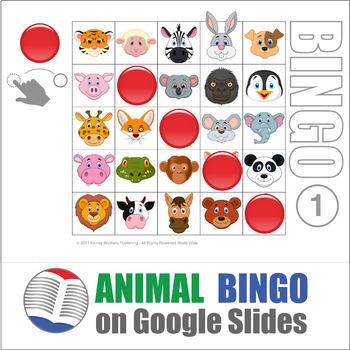 Animal Digital Bingo