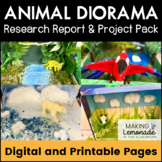 Animal Diorama and Research Report - Project Pack {EDITABLE}