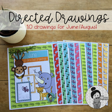 Animal Art Activities (June/August Directed Drawings) Dist