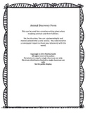 Animal Discovery Form