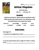 Animal Disguises Reading Packet