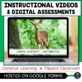 Animal Diversity Vertebrates Instructional Videos & Quiz -