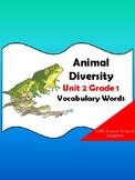 Animal Diversity Vocabulary Words