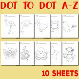 Animal Dot to Dot Alphabet Worksheets