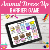 Dress Up Digital Barrier Game - Speech & Language - Device Based! Less Printing!