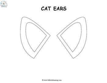 picture regarding Printable Cat Ears named Animal Ear Templates
