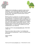 End of the Year Project:  Animal Ecosystem Project Instructions and Rubrics