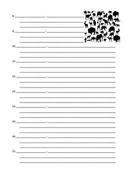 Animal & Ecosystem Vocabulary Project (Power Point / Prezi with Webquest)