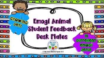 Animal Emogi Student Feedback Desk Plates