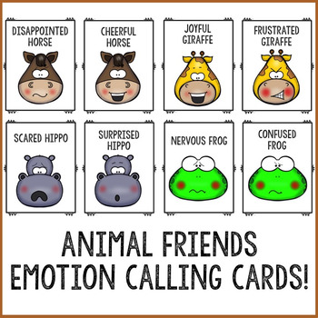 Animal Emoji Feelings Counseling Bingo Game