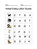 Animal Ending Letter Sounds