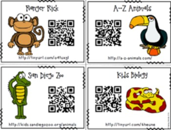 Animal Experts: A Research & Writing Unit for little ones - With QR Codes!