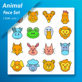 Animal Face Clip arts Set