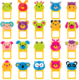Animal Faces Notes Digital Clip Art (ED)