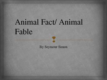 Animal Fact/ Animal Fable Vocabulary