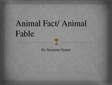 Animal Fact/ Animal Fable Vocabulary