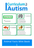 Writing Animal Facts Autism Special Education {Set 1}