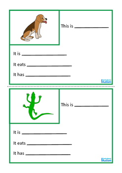 Animal Fact File, Biology Mini Book Set 2, Autism & Special Education