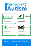 Writing Animal Facts Autism Special Education {Set 2}