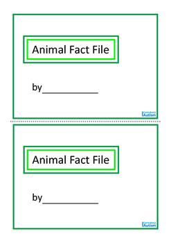 Animal Fact File Mini Book  Autism Special Education {Set 3}