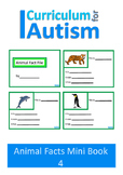 Writing Animal Facts Autism Special Education {Set 4}