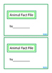 Animal Fact File, Biology Mini Books BUNDLE, Autism & Special Education