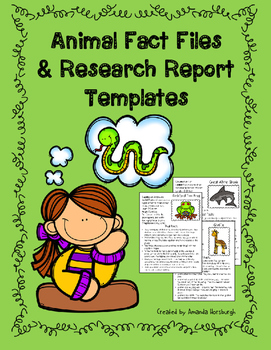 Animal Fact Files & Research Report Templates