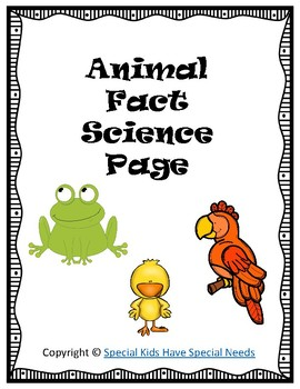 Animal Fact Science Page