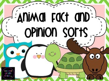 Animal Fact and Opinion (Cut and Paste Sorts)