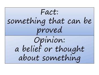 Animal Fact or Opinion Sorting Station