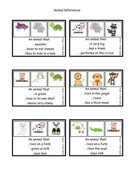 Animal Facts .... Animal Fun:  Inferences
