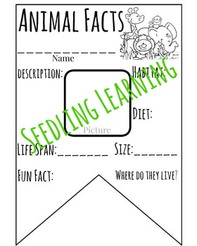 Animal Facts Banner / Pennant