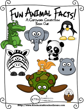 Animal Facts Copywork Book