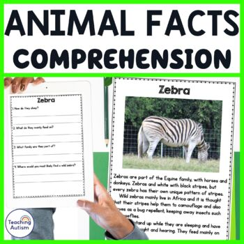Animal Facts Reading Comprehension Passages Questions