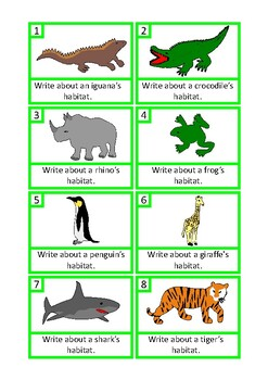 Animal Facts Writing Prompts Autism Special Education