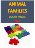 Animal Families Jigsaw Puzzle No. 2