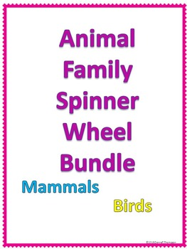 Animals Kingdom Family Bundle: Names of Male, Female and B