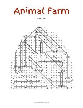 Animal Farm Word Search Puzzle