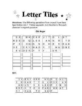 Animal Farm: 33-PAGES OF WORD PUZZLES—fun and educational!