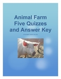 Animal Farm 5 Tests and Answer Keys