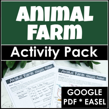 Animal Farm Activity Pack with Lessons for Beginning, Middle and End