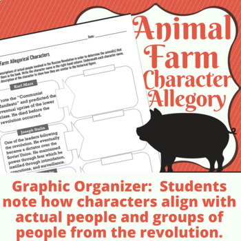 Animal Farm Allegorical Characters Graphic Organizer
