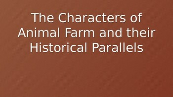 Animal Farm Allegory PPT