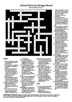 Animal Farm - Allegory / Symbols Crossword Puzzle