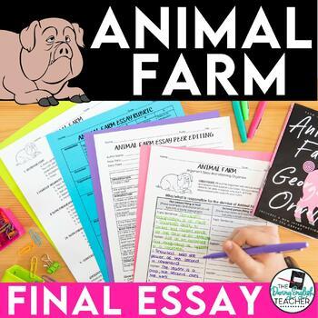 Animal Farm Argumentative Essay with ESL support