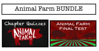 Animal Farm Test & Chapter Quizzes BUNDLE